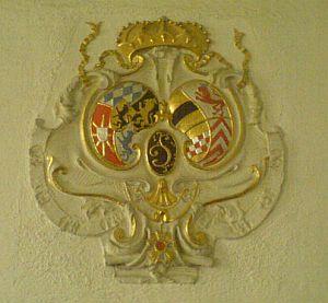 Wappen des Karl III Philipp, Kurfürst & mehr in der Schlosskirche Mannheim.