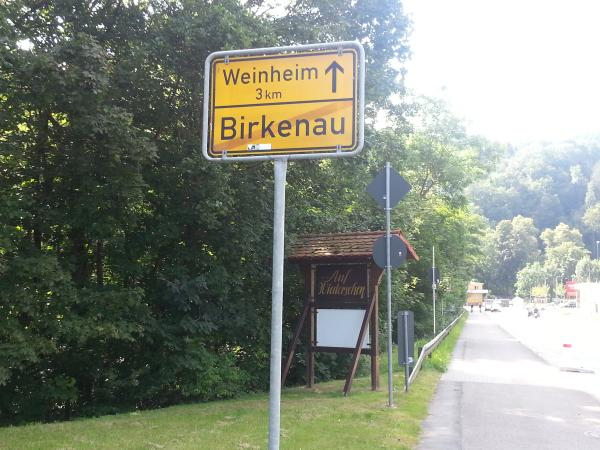 Ortsausgangschild Birkenau
