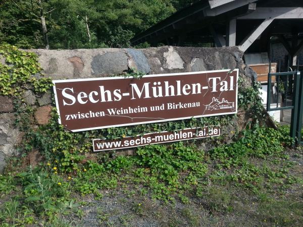 Sechs-Mühlen-Tal Weinheim-Birkenau.