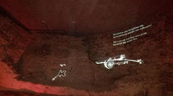 Ausschnitt aus einer Multimediastation unter den Mauern von Ehrenbreitstein!