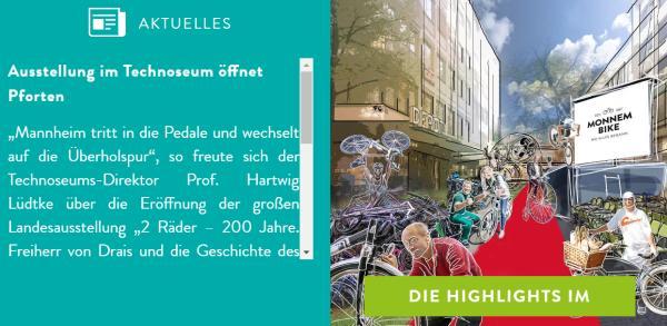 """Screenshot der Website """"Monnem Bike"""" zum """"Draisjubiläum"""""""