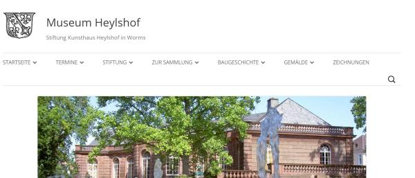 Screenshot der Website des Museums Heylshof..(Klick)